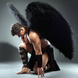 image of lucifer the fallen angel with muscles