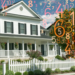 image of house surrounded by numbers