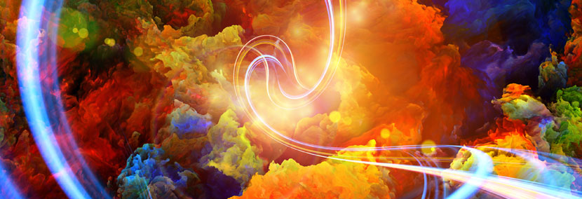 image of bright colourful vibrations