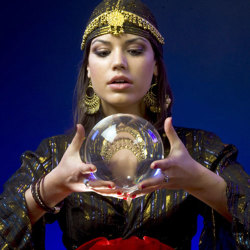 image of psychic with a crystal ball
