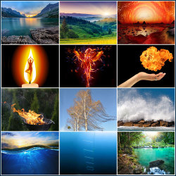 12 different beautiful landscapes on selection grid