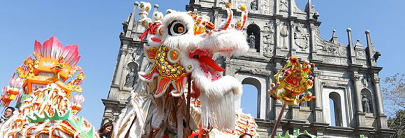 image of dragon for chinese new year in macau