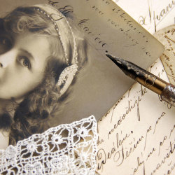 image of vintage writing pen and photo