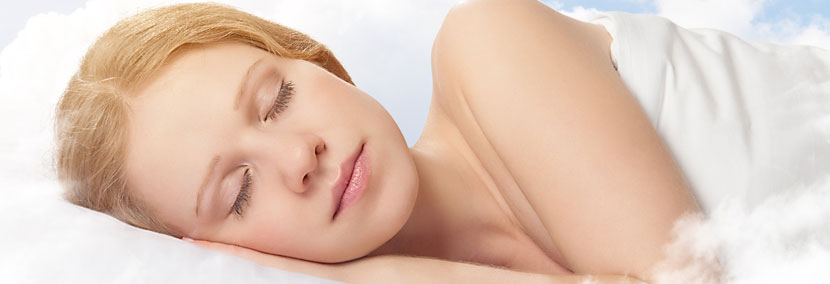 image of beautiful woman dreaming