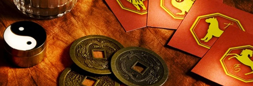 image of chinese coins used in i ching