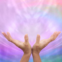 image of energy flowing from hands through reiki