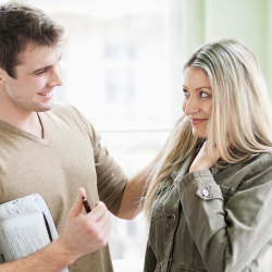 image of guy flirting with a woman