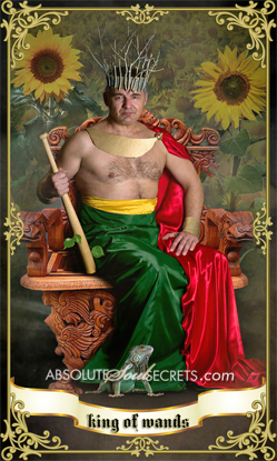 image of king sitting on throne representing king of wands tarot