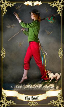 image of woman balancing in the air representing the fool tarot