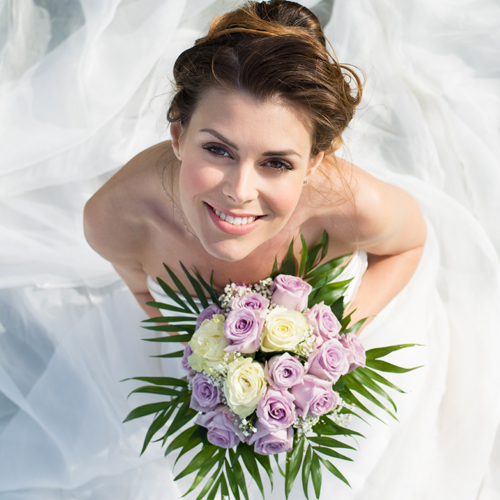 image of a beautiful happy bride