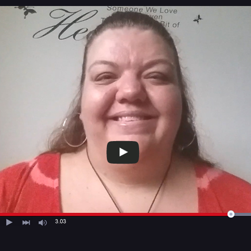 image of Psychic Jenna during a Skype video for Absolute Soul Secrets