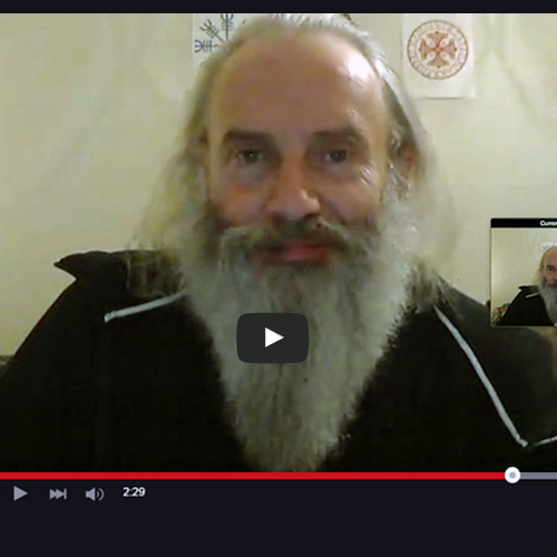 image of Psychic Laurence during a Skype video for Absolute Soul Secrets
