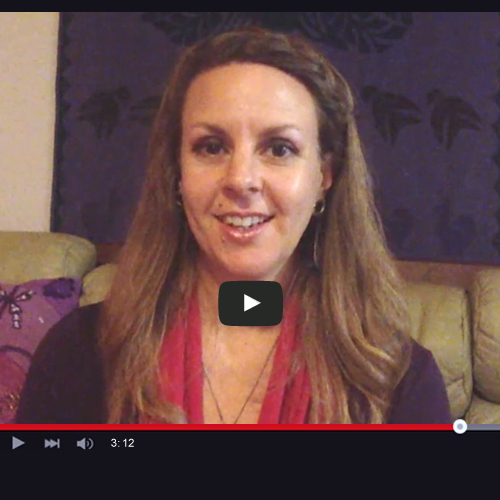image of psychic Liesel doing a video interview for Absolute Soul Secrets