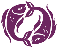 image of the two fishes representing the pisces starsign