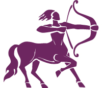 image of the archer who is half human and half horse representing the starsign sagittarius