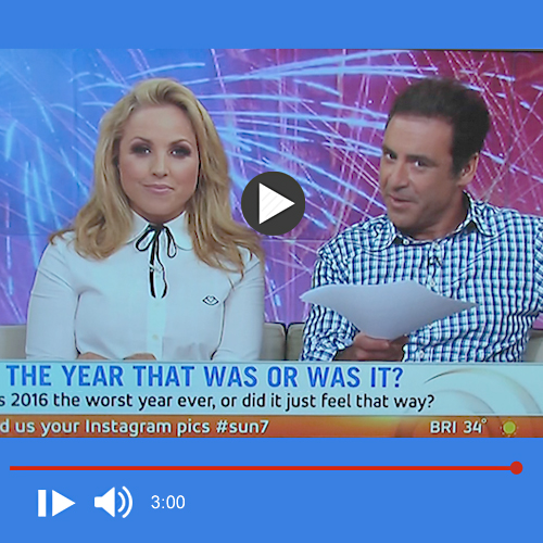 image of rose smith doing an interview on sunrise channel 7
