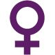 image of the universal female symbol in purple